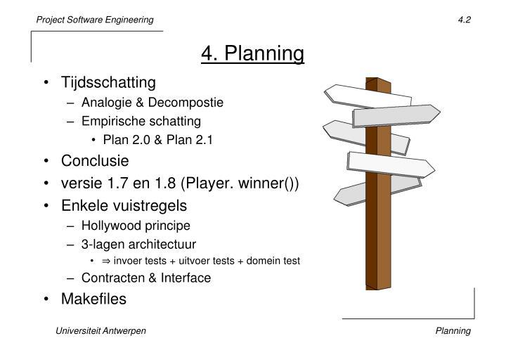 4. Planning