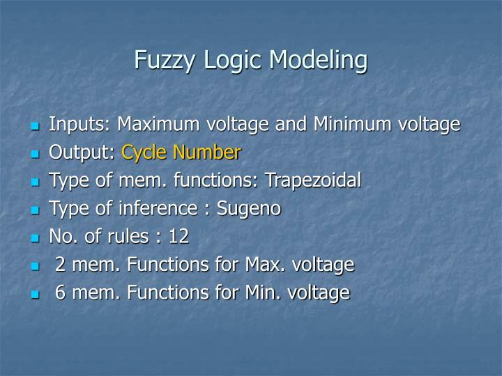 Fuzzy Logic Modeling