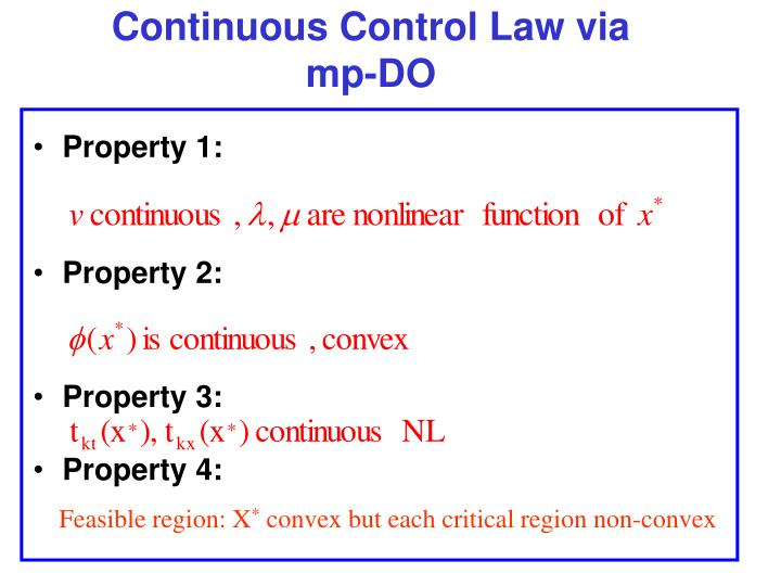 Continuous Control Law via