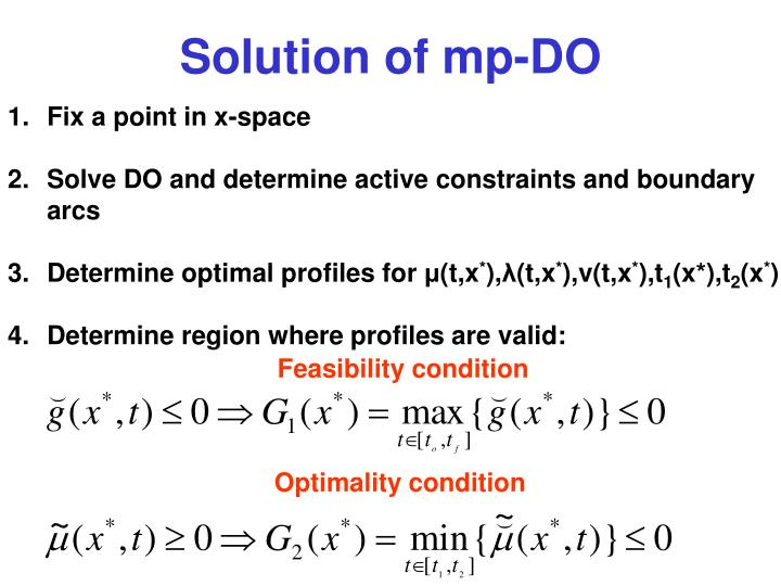 Solution of mp-DO