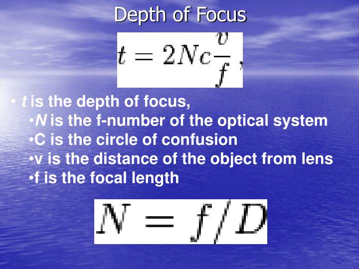 Depth of Focus