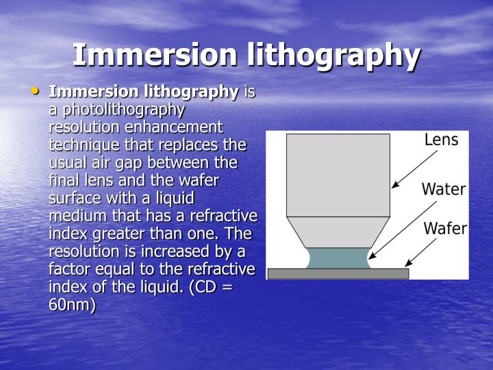 Immersion lithography