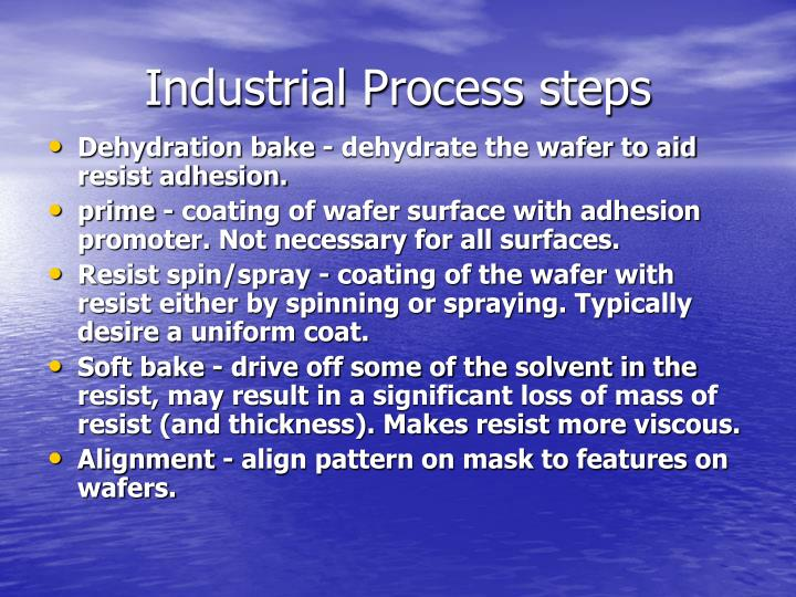 Industrial Process steps