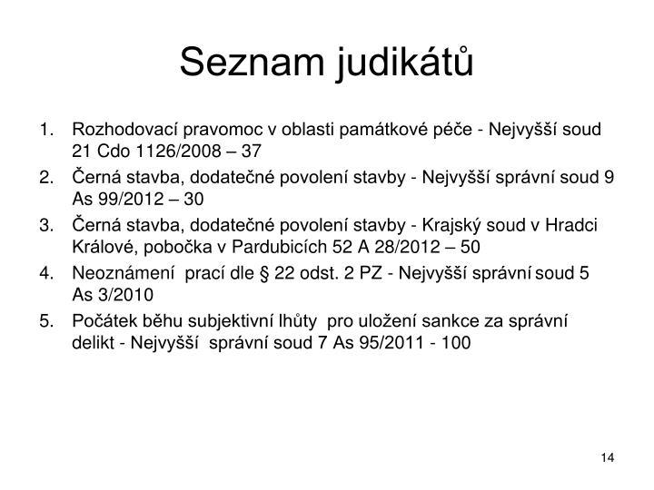 Seznam judikátů