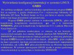 wy wietlanie konfiguracji konstrukcji w systemie linux gmes