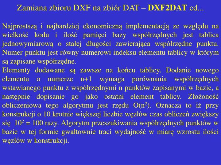 Zamiana zbioru DXF na zbiór DAT –