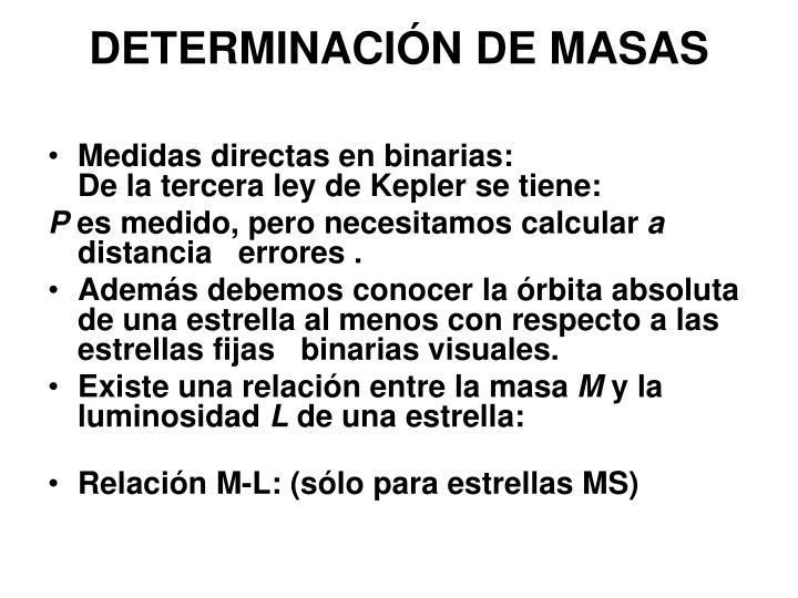 DETERMINACIÓN DE MASAS