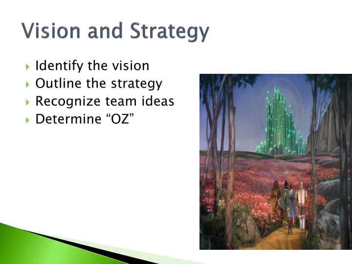Vision and Strategy