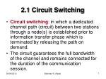 2 1 circuit switching