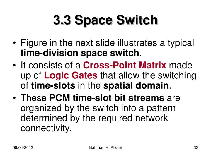 3.3 Space Switch