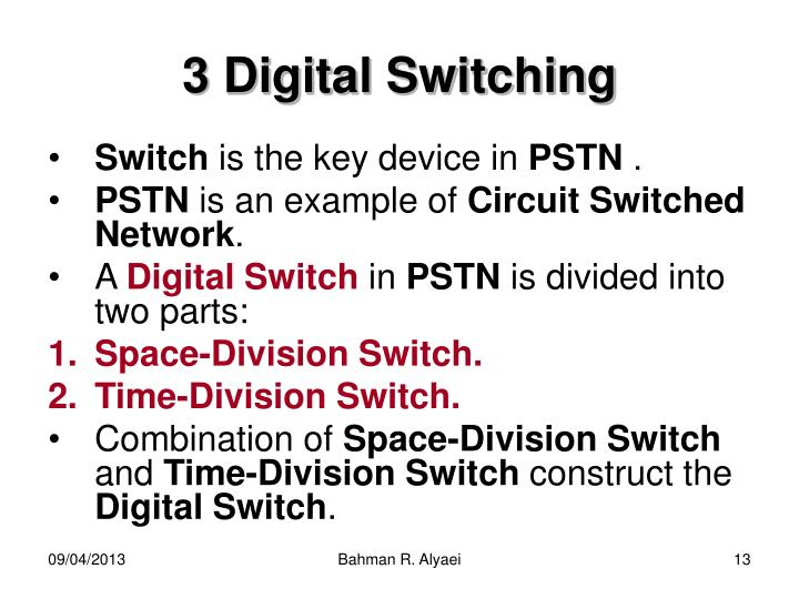 3 Digital Switching