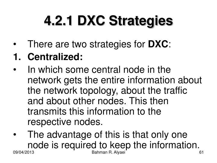 4.2.1 DXC Strategies