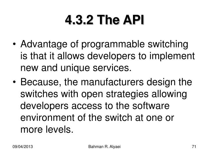 4.3.2 The API