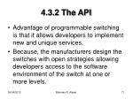 4 3 2 the api