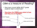 cbm is a measure of reading