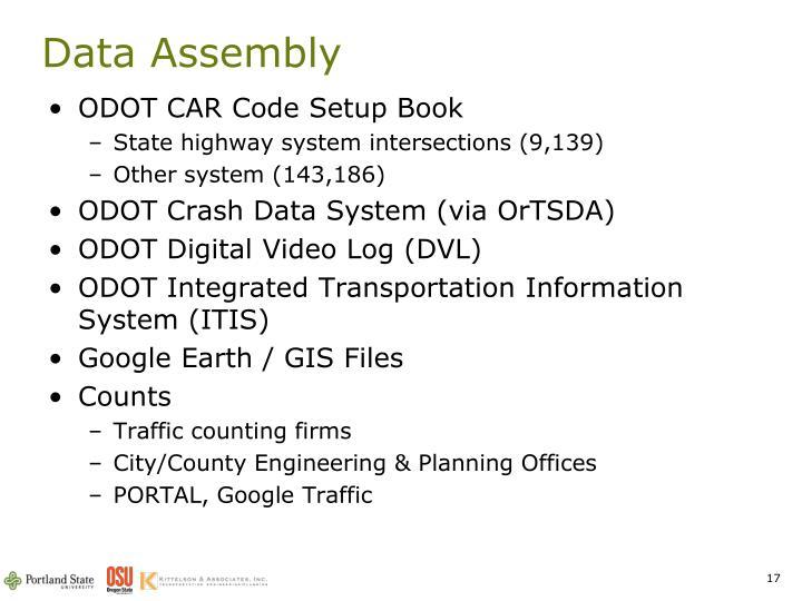 Data Assembly