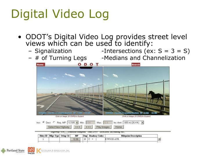 Digital Video Log