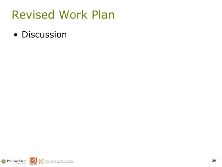Revised Work Plan