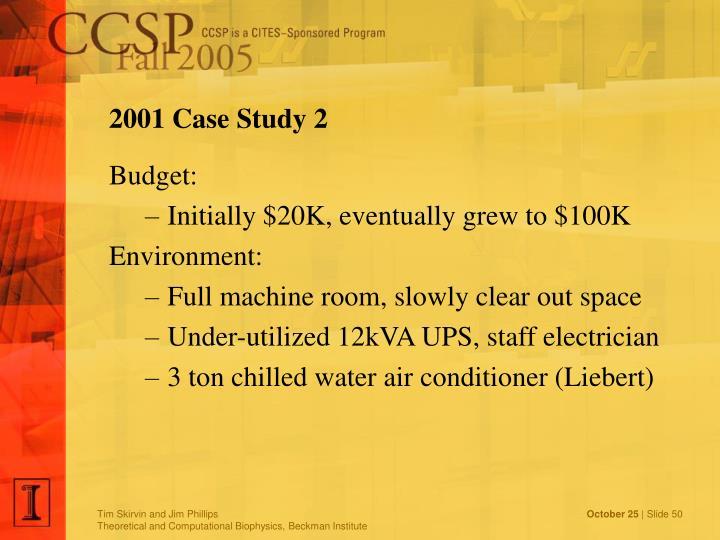 2001 Case Study 2