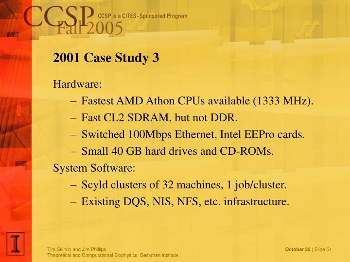 2001 Case Study 3
