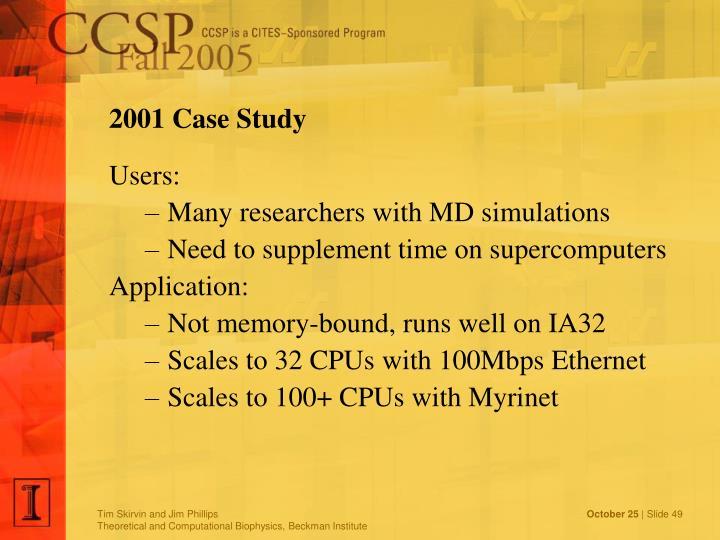 2001 Case Study
