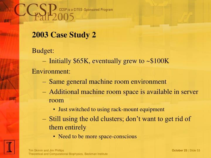2003 Case Study 2