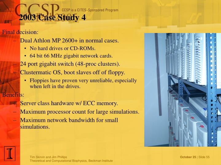 2003 Case Study 4