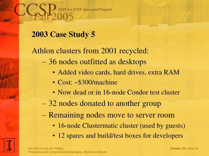 2003 Case Study 5