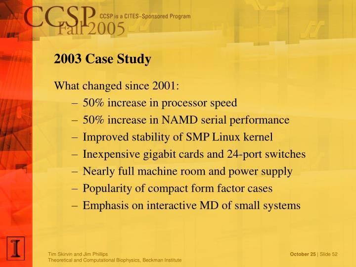 2003 Case Study
