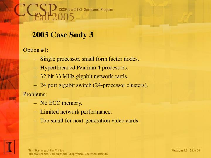 2003 Case Sudy 3