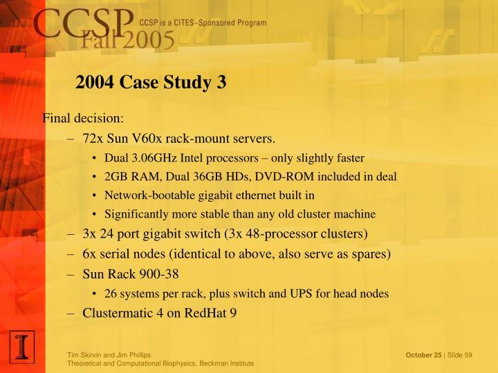 2004 Case Study 3