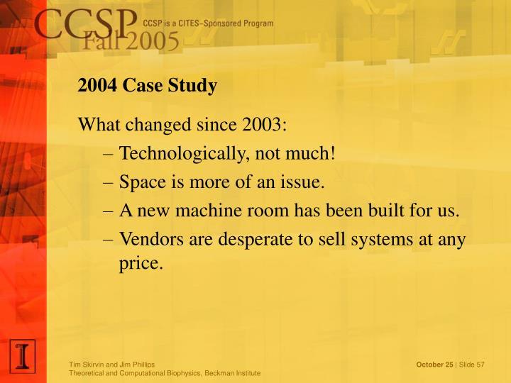 2004 Case Study