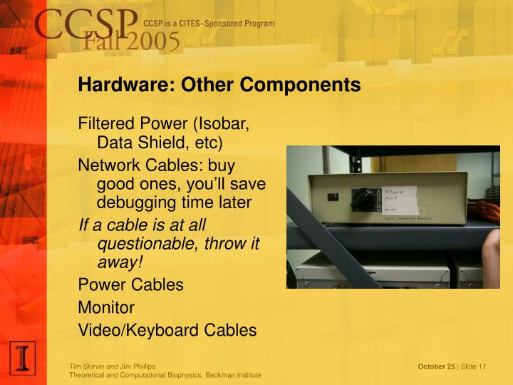 Hardware: Other Components