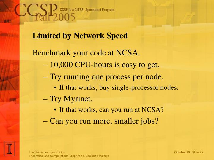 Limited by Network Speed