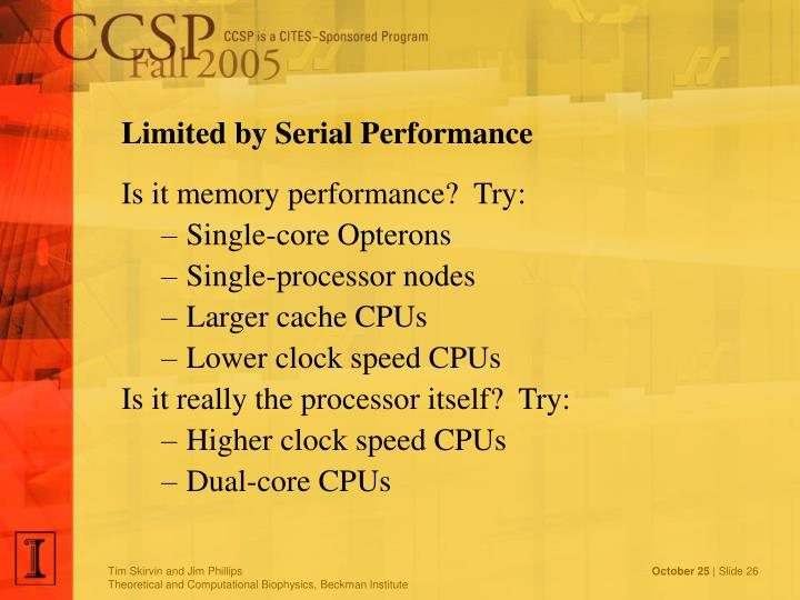 Limited by Serial Performance