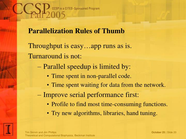 Parallelization Rules of Thumb