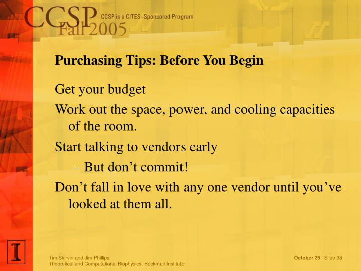 Purchasing Tips: Before You Begin