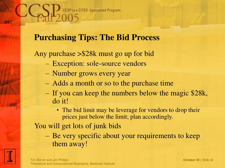 Purchasing Tips: The Bid Process