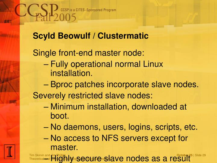 Scyld Beowulf / Clustermatic