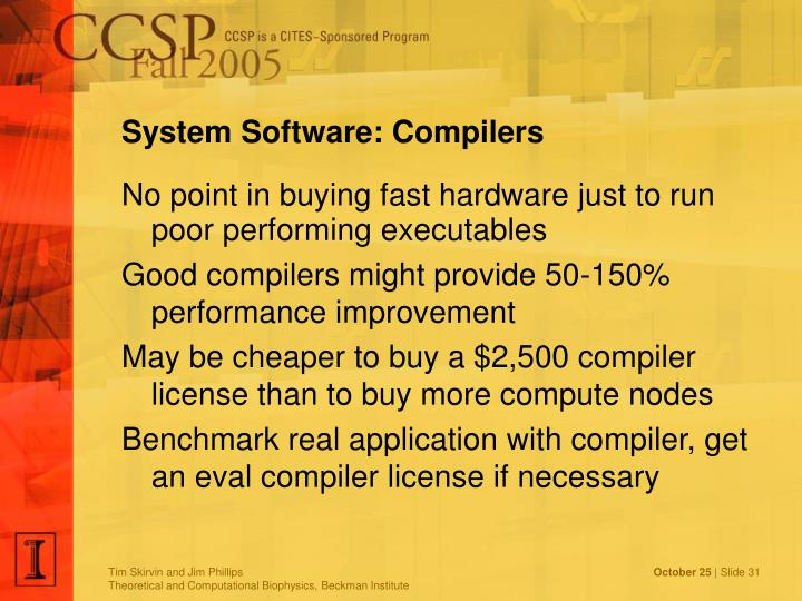 System Software: Compilers