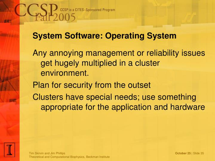 System Software: Operating System
