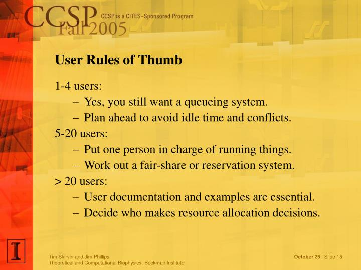 User Rules of Thumb