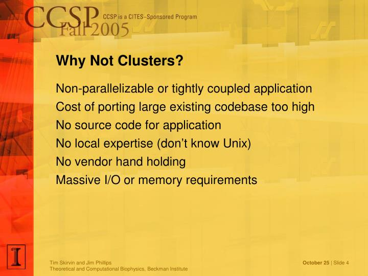 Why Not Clusters?