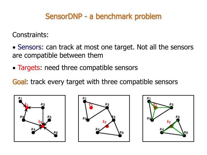 SensorDNP - a benchmark problem