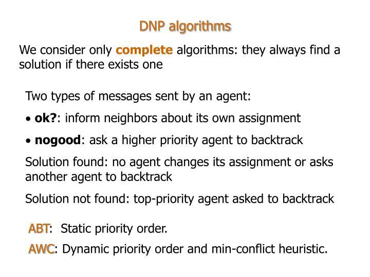 DNP algorithms