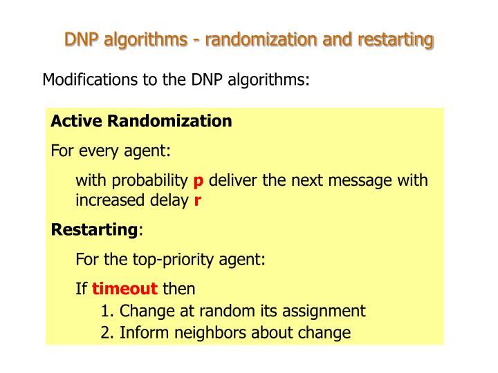 Active Randomization
