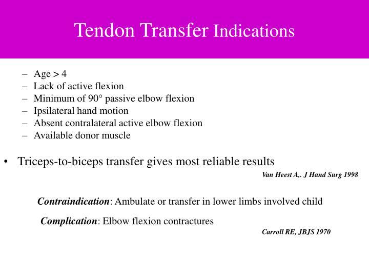 Tendon Transfer