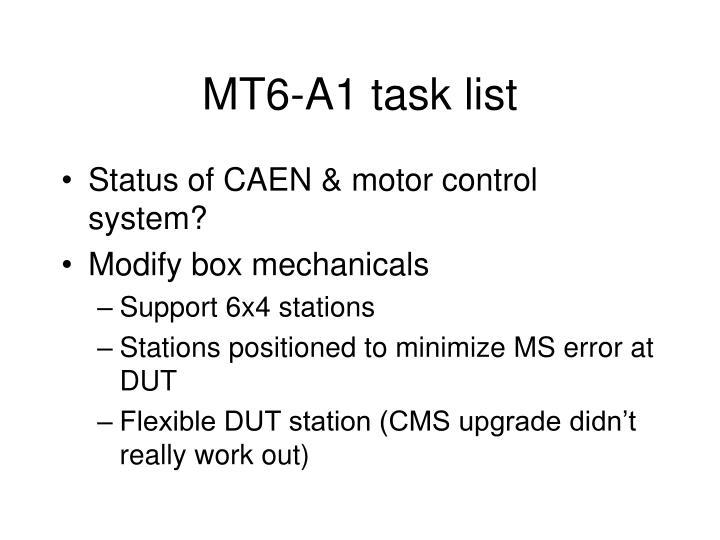 MT6-A1 task list