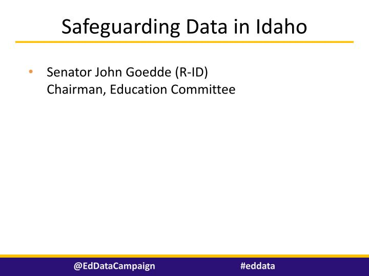 Safeguarding Data in Idaho