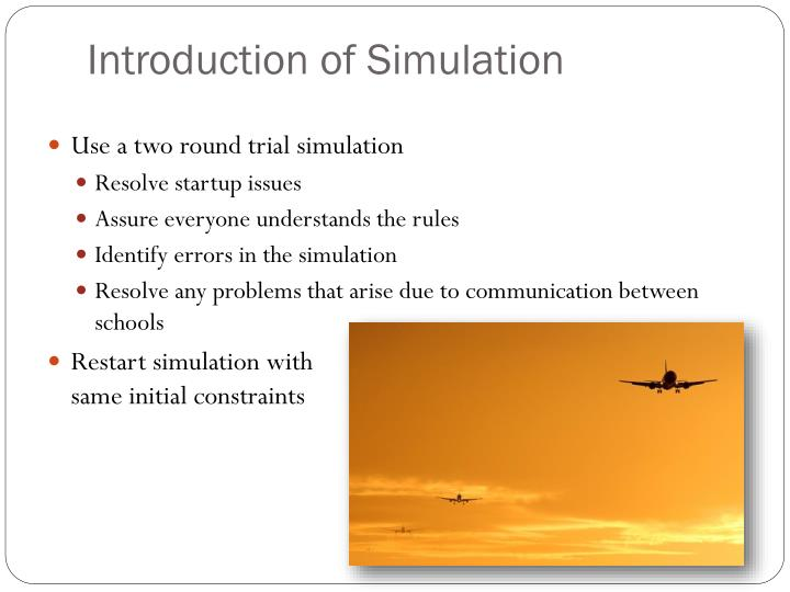 Introduction of Simulation